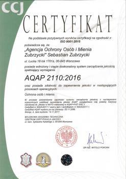 Certyfikat AQAP Sebastian