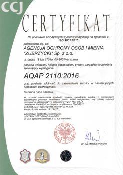 Certyfikat AQAP Spolka