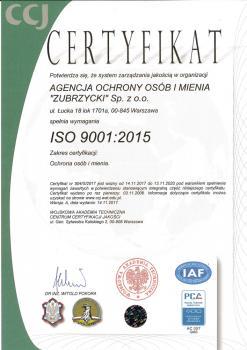 Certyfikat ISO Spolka